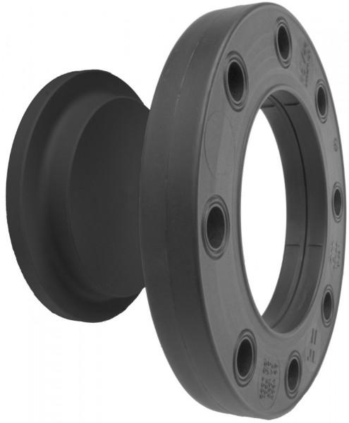 Blindflansch Set PE Kombi-Dichtfläche flach und gerillt metrisch d 63 mm, DN 50 mm